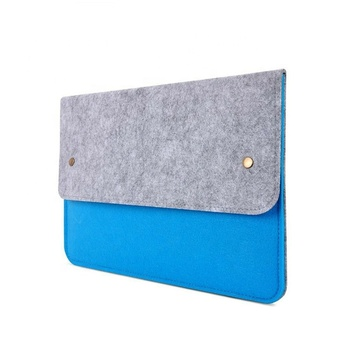 Double color felt laptop bag sleeve case for macbook air pro HP Dell Lenovo 11 13 14 15 17