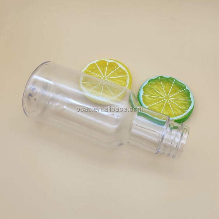 Free samples 150ml Small Empty Transparent Plastic PET Bottles liquid cosmetic bottle