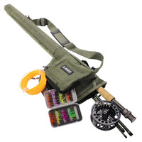Fly Fishing Rod And Reel Combo Set Rod Combo With Fly Line Fly Lures Full Kit With Bag