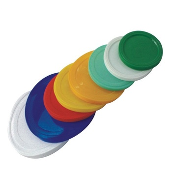 Plastic lids for cans paper tube accessories plastic can cover Plastic bottle can cover caps full colors
