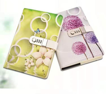 Wholesale colour printed Custom luxury convenient carry office note book with smart lock