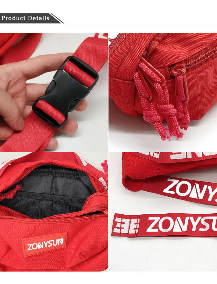 Outdoor Sport Hiking Fanny Pack Waist Bag With Secret Pocket Customized Logo Wholesale