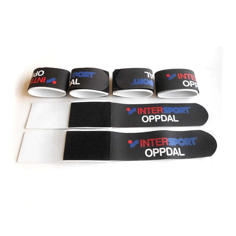 50*550mm custom printed alpine ski strap hook and loop