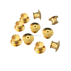 Wholesale metal gold locking pin back, flat pin clasp back for sale