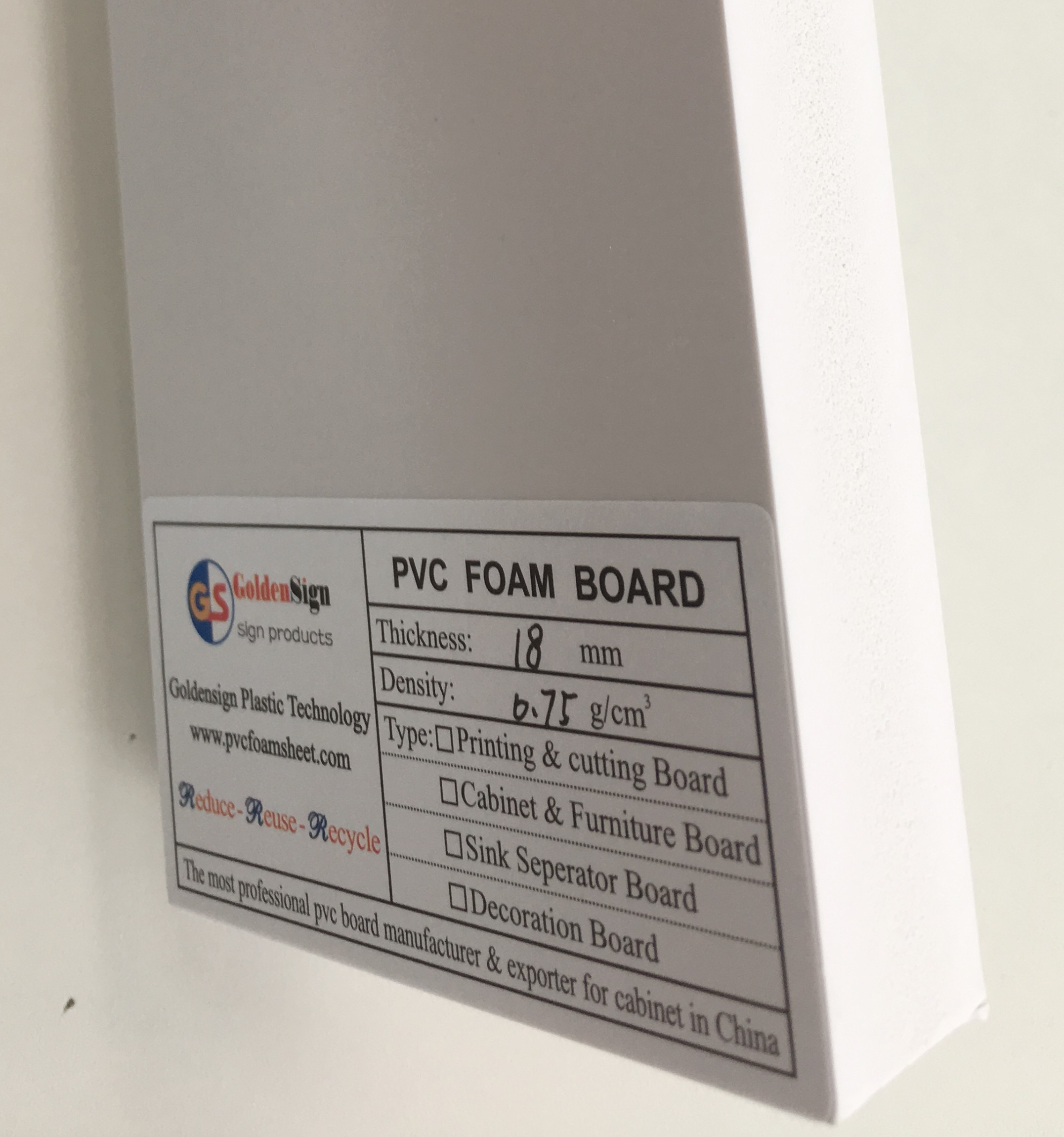 18mm high density pvc foam <strong>sheet</strong> plastic PVC Furniture Foam Board PVC door board sample free
