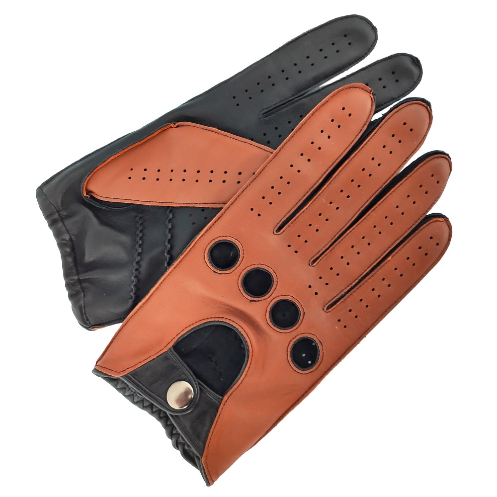 Custom High quality outer seam genuine sheepskin driving unlined leather gloves