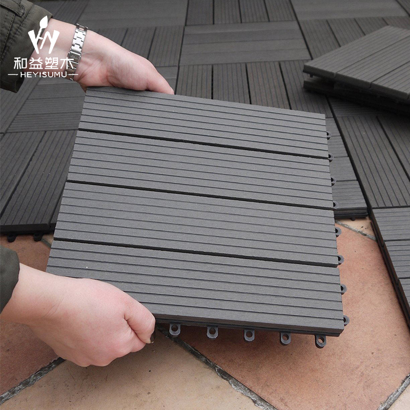 Outdoor indoor holz kunststoff wpc verriegelung decking fliesen composite decking