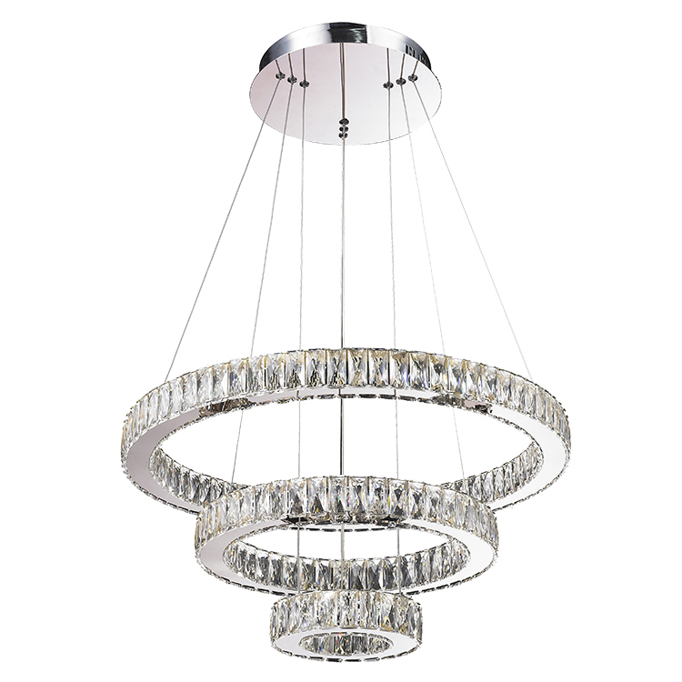 Three Round Rings Crystal Chandeliers Modern Chandelier and lamps Hotel chandelier luxury