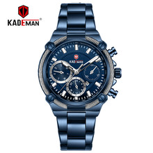 KADEMAN женские наручные часы, Топ бренд, роскошные деловые часы для женщин, 3ATM, новые модные женские часы, стальной браслет, часы для женщин(Китай)