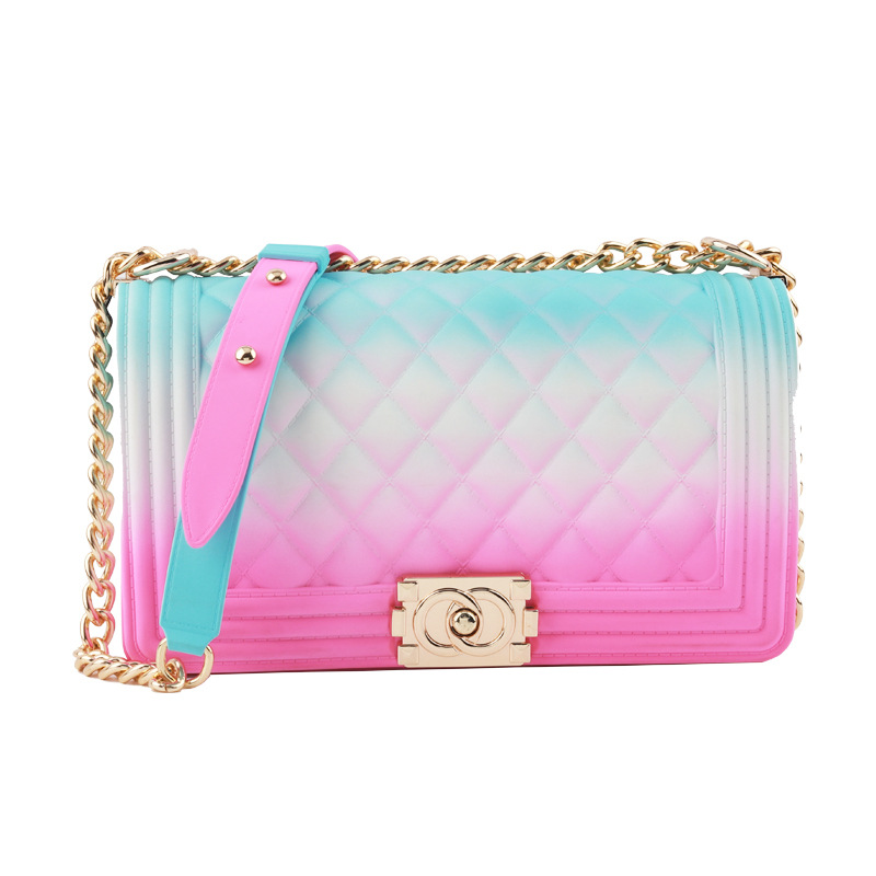 Mode Zipper Shell Stil Rand Farbe Pu Leder Mini Geldbörse Umhängetasche Frauen