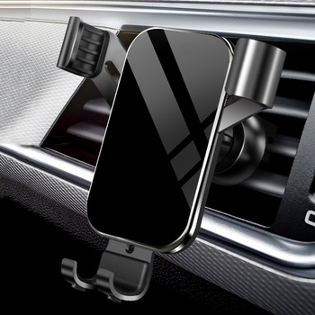 Angle Adjustment Tempered Glass Panel Car Phone Mount Wholesale Gravity Car Air Vent Mobile Phone Holder