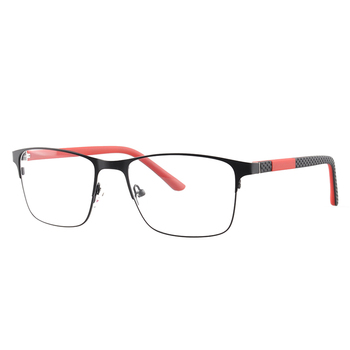 HT23-70 Black red metal frame unisex optical glasses