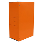Custom Design Galvanized Steel Sheet Metal Power coated in Orange Completed with Mounting Panel Laser Cutting Metal Box