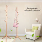Coat High Grade Wooden Tree Standing Coat Rack