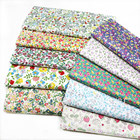 100% cotton floral Twill Cotton cloth Environmental Protection Small Floral Handmade DIY home decoration sewing fabric