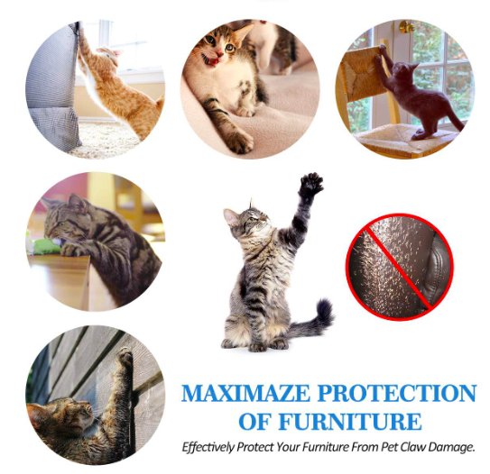 Wholesale Amazon Hot Custom High Transparent Sofa Guard Cat Scratching Protector for Car Seats or Stool Leg Protection