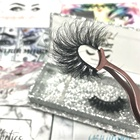 Hand Made 3d Eyelashes Wholesale Fast Delivery 3D Mink Lashes Hand Made False Full Strip 25mm Mink Eyelash