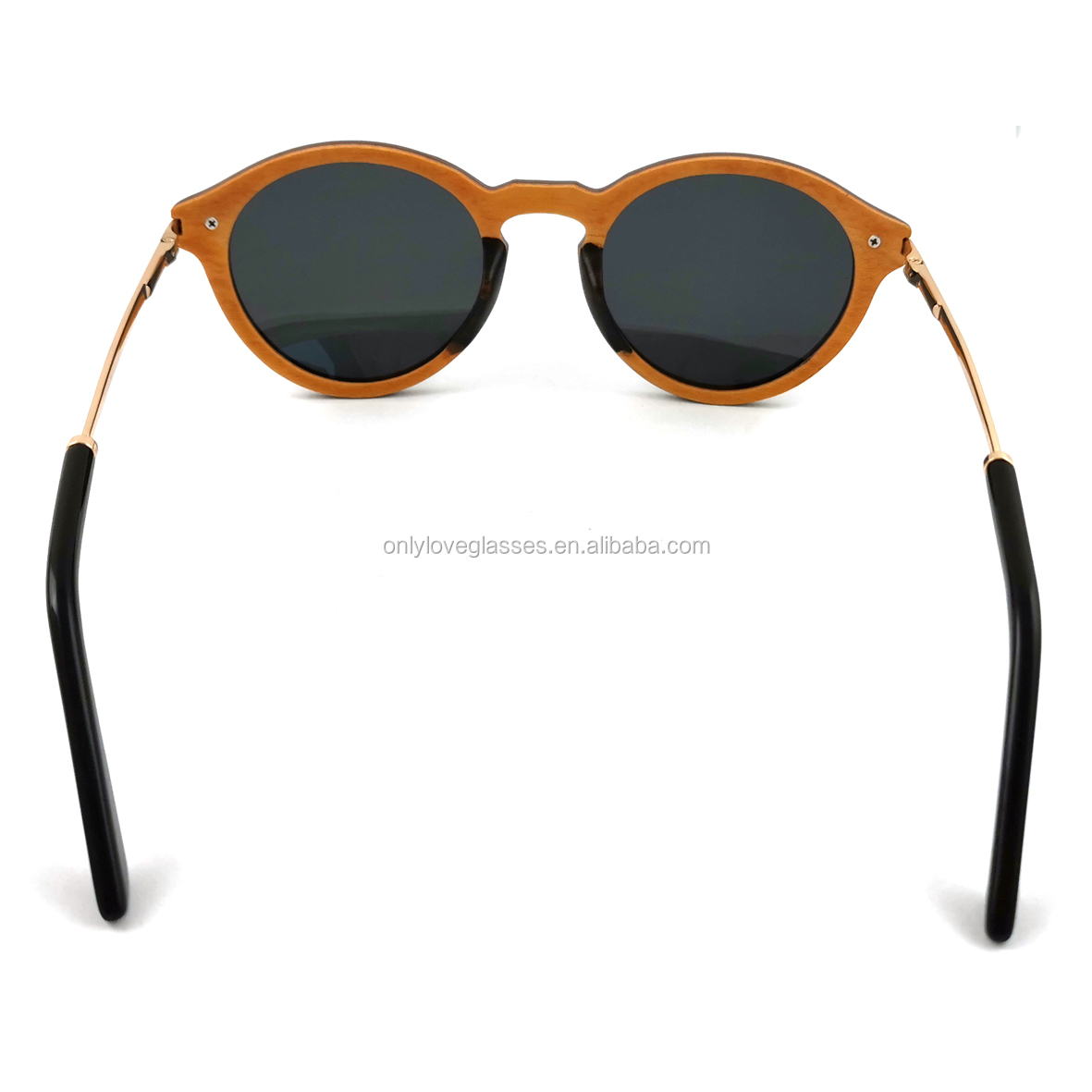 Skateboard wood sunglasses,wooden sunglasses metal temple,wooden sunglasses case