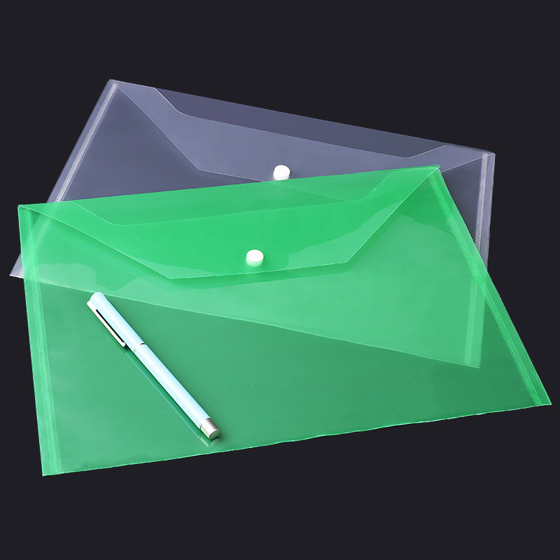 custom printed acceptable high quality low price pp pvc snap button folder