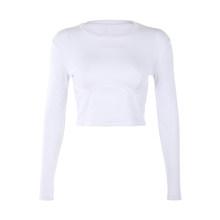 SUCHCUTE soild женская футболка трикотажная с длинным рукавом 2020 белая дикая футболка повседневная модная клубная простая женская верхняя одежда(Китай)