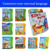 3D hard cover publishing book printing service children English colorful story interactive 10 button sound board usborne book