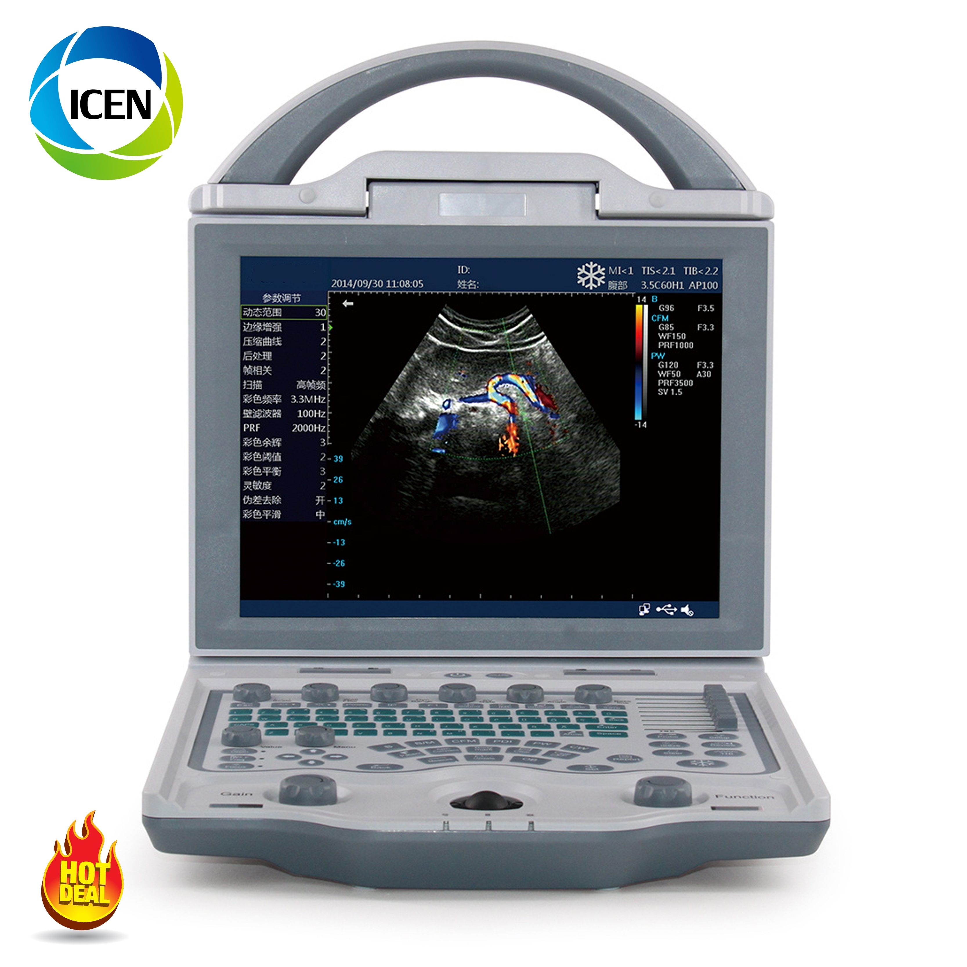 IN-A12 Medical hospital portable color doppler 4D ultrasonography machine