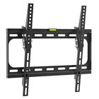 Hidden TV wall mount bracket for 26''-55'' tvs, Fixed lcd tv wall mount vesa 400X400mm and up to 99LBS, for 16 inch stud