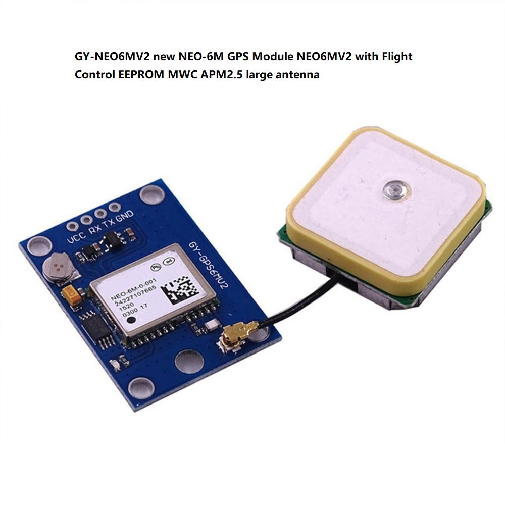 SYEX 5pcs//lot GY-NEO6MV2 MWC APM2.5 Flight Control GPS Module With EEPROM Large Antenna