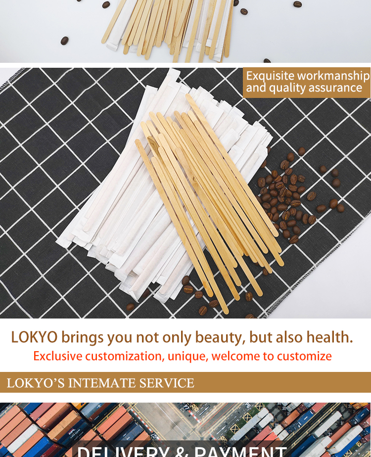 disposable factory biodegradable sugar coffee stirrer and bar wooden stir sticks