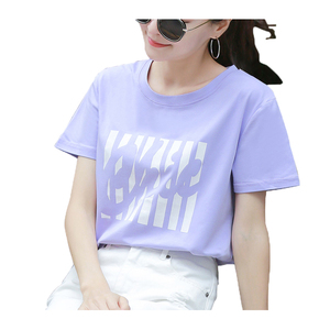 Lady T Shirt O Neck Short Sleeve Graphic Print 100% Cotton Summer Fashion Tshirt For Girl Cheap Tops