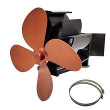 Вентилятор для печи, работающий от тепловой энергии, обновленный дизайн, бесшумная работа с магнитным притяжением для камина, вентилятор дл...(Китай)