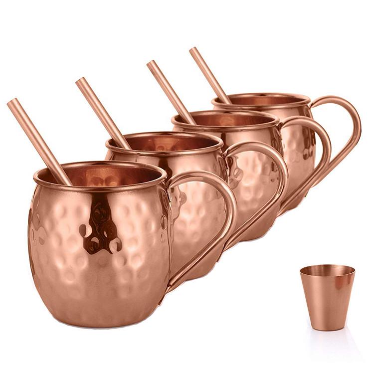 Manufacture wholesales customized logo copper moscow mule mug