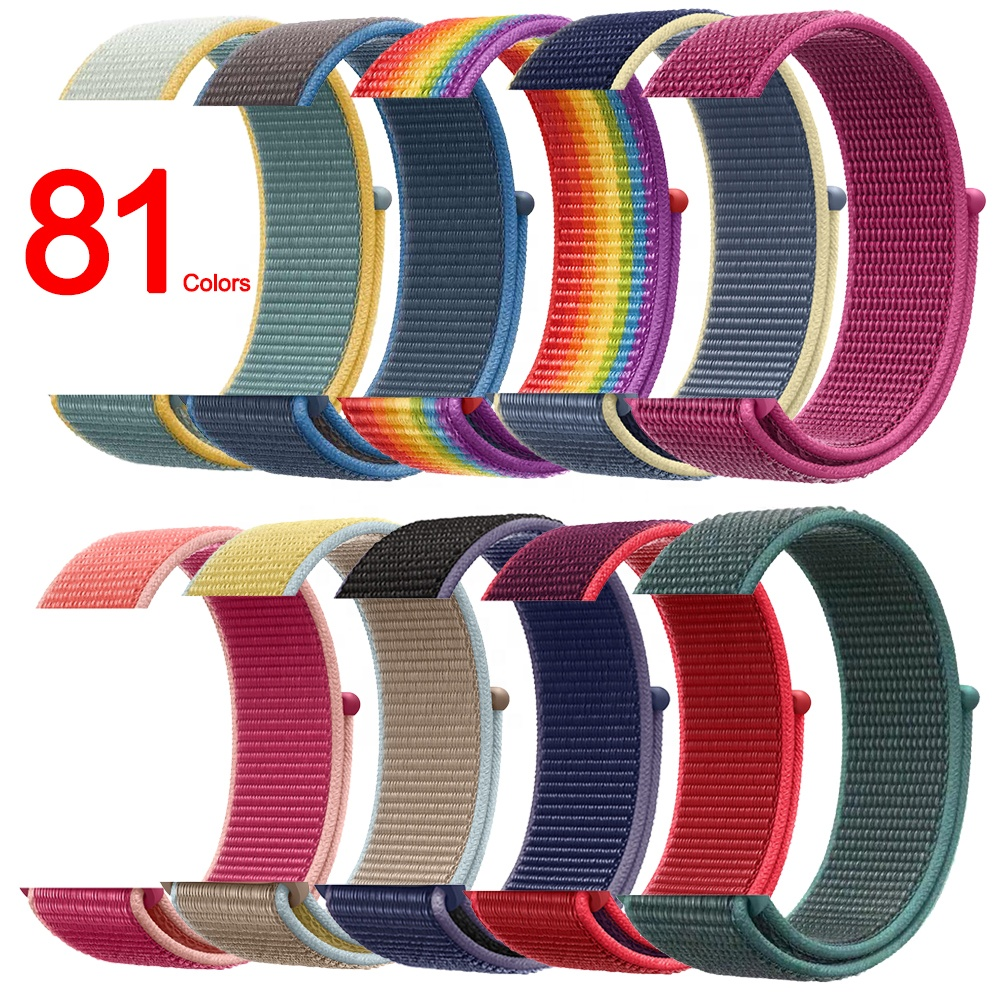 Tschick For Apple Watch Nylon Sport Loop Band 40/44mm Nylon Strap Hook and Loop Replacement Band For iWatch Series 3/4/5/6/SE