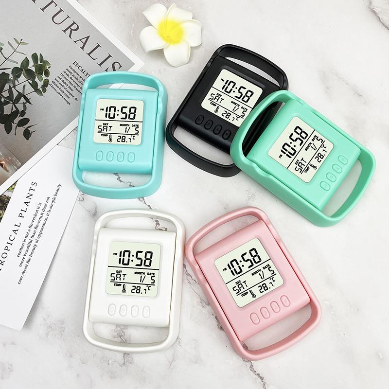 2020 Venta caliente regalo de multi-función de reloj de mesa LCD teléfono móvil soporte de alarma de reloj digital
