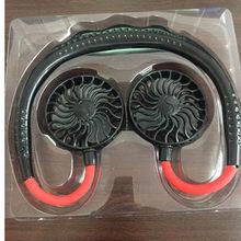 Портативный шейный вентилятор для бега с перезаряжаемой батареей, мини-вентилятор с usb-разъемом, вентилятор для воздушного охлаждения, мале...(Китай)