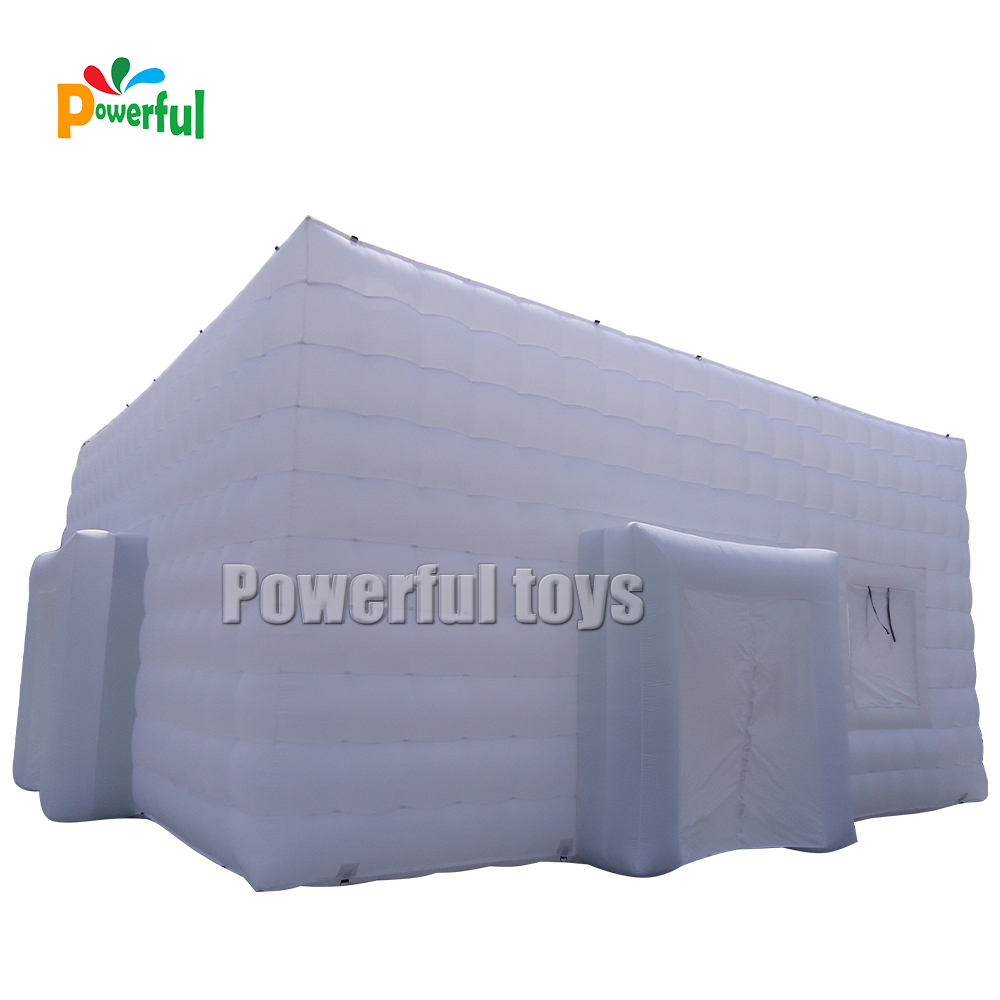 Giant 9x9m white inflatable wedding event tent outdoor tent