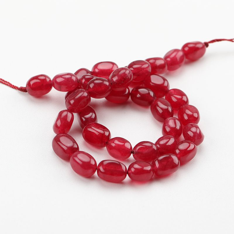 Natural Jade Stone Loose Beads For Women Bracelet DIY Jewelry Making