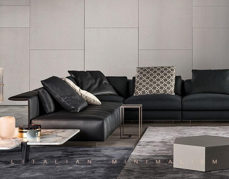 Sofá seccional reclinable de tela de alta gama, muebles de salón de diseño italiano de lujo