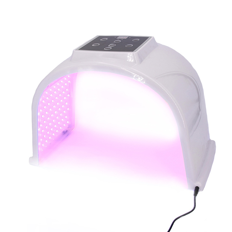 7 color omega LED de la terapia de luz azul luz facial