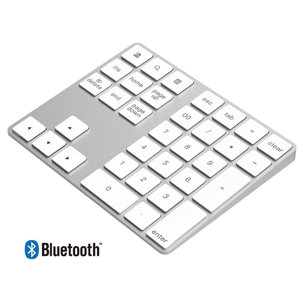 New hot slim wireless numpad bluetooth numeric keypad aluminium keypad 34