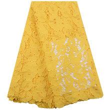 Водорастворимая кружевная ткань оранжевого цвета, кружевная ткань с кружевной вышивкой в африканском стиле, вечерние кружевные ткани Y1959(Китай)