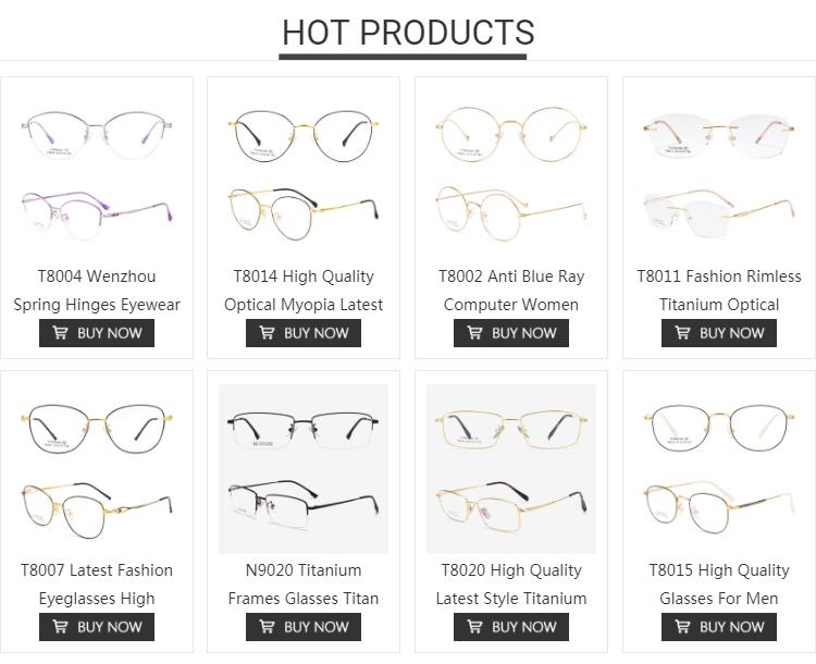 T8026 핫 세일 남성 여성 라운드 광학 티타늄 안경 프레임