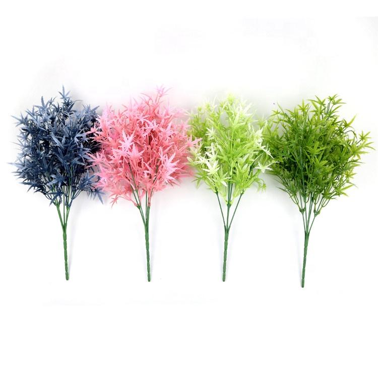 Hot Sale High Quality Plastic Water Plants Simulation Plants Maple Leaf Bouquet Artificial Flower For Home Decor
