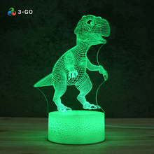 Dekorative Optische 3D licht Riss Basis Acryl 3D Illusion Dinosaurier LED Nacht Licht