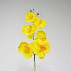 Cheap Wholesale Decorative White Blue Yellow Pink Orchid Artificial Flowers