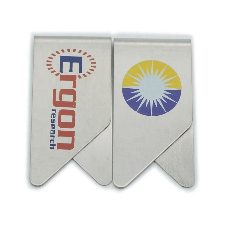 Promotional gift custom logo wing shape stainless steel metal paper clips