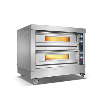 GRACE CE Certified Stainless Steel Commercial Baking oven Double Decks Electric Pizza Oven