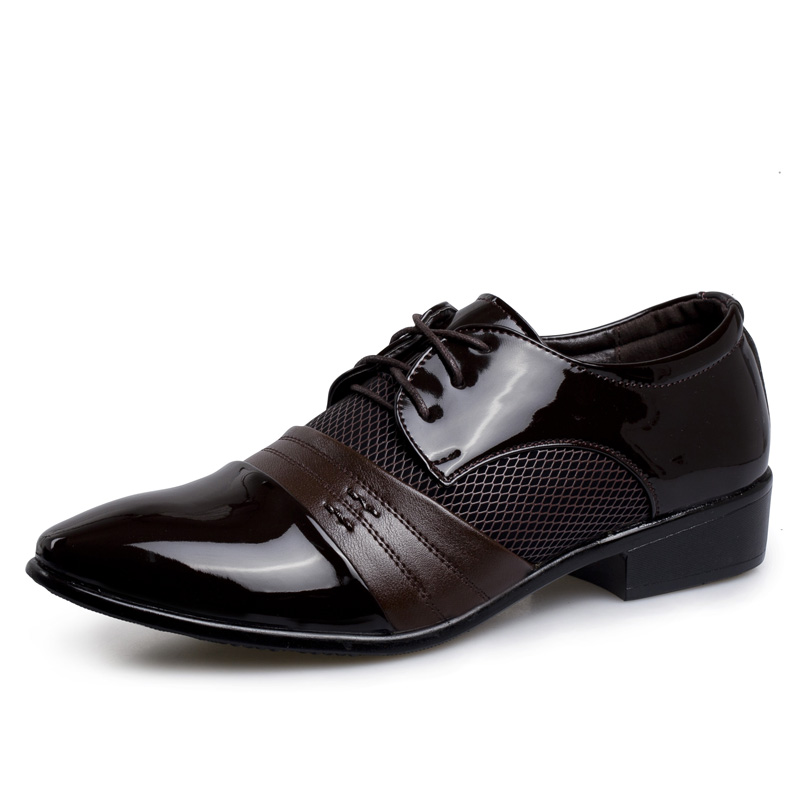 Amazon Hot Sale PU Leather Shoes Italy Mens Dress Shoes For Business Shoes