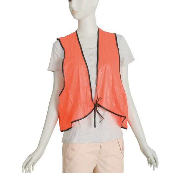 Adult PVC Dustman <strong>Orange</strong> Safety <strong>Vest</strong>