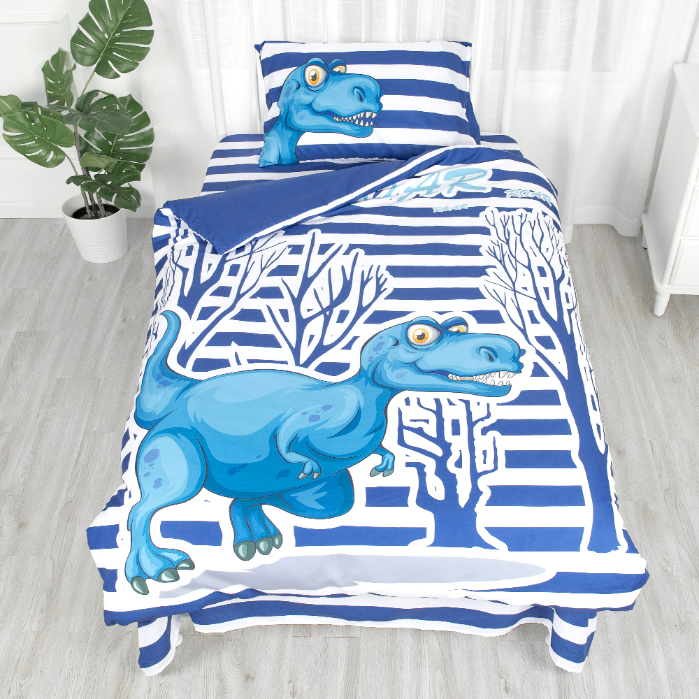 Children 3D digital kids bedding for boy print jungle dinosaur bedding set 100% cotton kids quilt